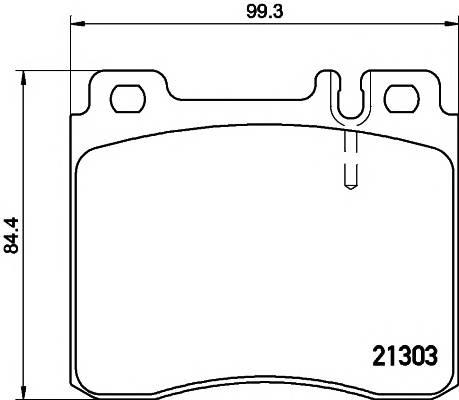 Тормозные колодки 21303/18,5мм Тормозные колодки PAGID PAGID арт. T1049