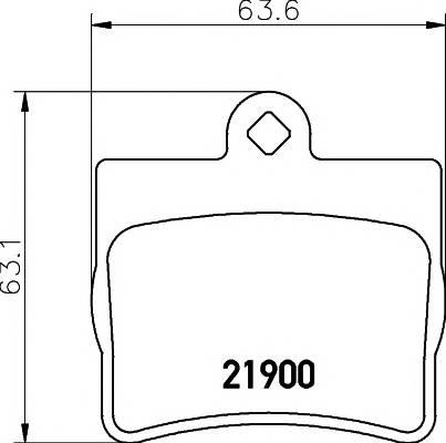 Тормозные колодки 21900/15,9мм Тормозные колодки PAGID PAGID арт. T1139
