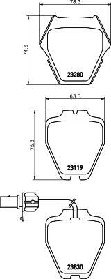 Тормозные колодки 23280/17,5мм Тормозные колодки PAGID PAGID арт. T1205