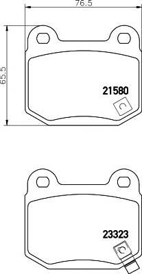 Тормозные колодки 21580/14,3мм Тормозные колодки PAGID PAGID арт. T1386