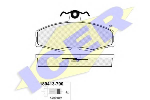 Тормозные колодки Тормозные колодки дисковые PAGID арт. 180413700