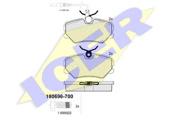 Тормозные колодки Тормозные колодки дисковые ABE арт. 180696700