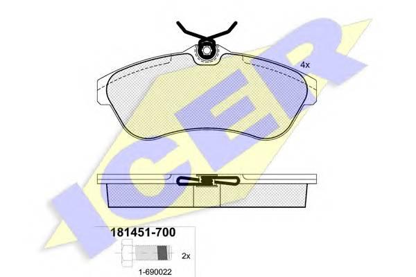 Тормозные колодки Тормозные колодки дисковые PAGID арт. 181451700