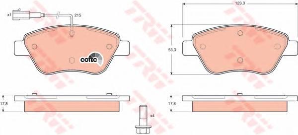 Тормозные колодки Тормозные колодки дисковые ABE арт. GDB1482