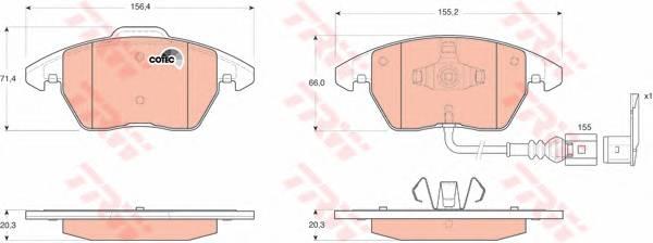 Тормозные колодки Тормозные колодки дисковые ABE арт. GDB1550