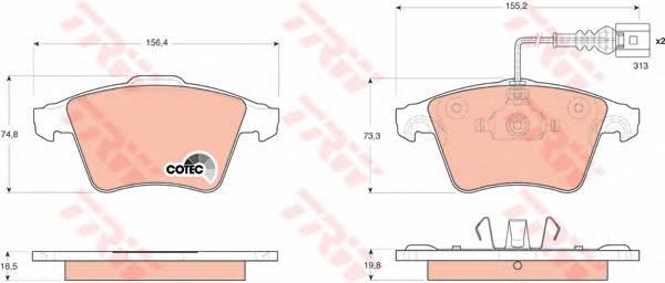 Тормозные колодки Тормозные колодки дисковые PAGID арт. GDB1651