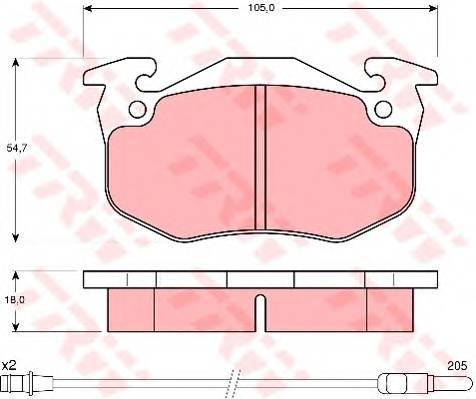 Тормозные колодки Тормозные колодки дисковые PAGID арт. GDB308