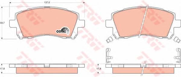 Тормозные колодки Тормозные колодки дисковые PAGID арт. GDB3217