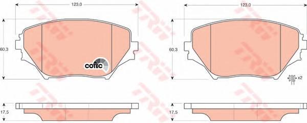 Тормозные колодки Тормозные колодки дисковые PAGID арт. GDB3251