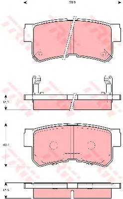 Тормозные колодки Тормозные колодки дисковые PAGID арт. GDB3258
