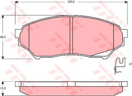Тормозные колодки Тормозные колодки дисковые ABE арт. GDB3270
