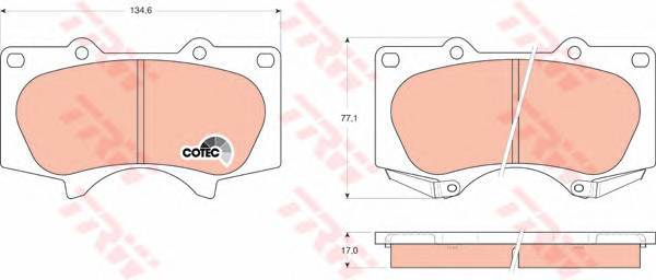 Тормозные колодки Тормозные колодки дисковые ABE арт. GDB3364