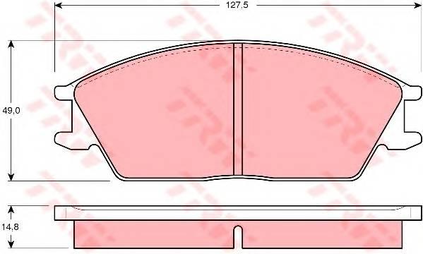 Тормозные колодки Тормозные колодки дисковые PAGID арт. GDB373