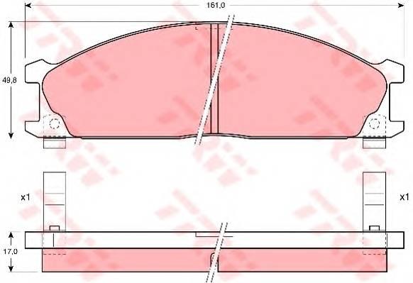 Тормозные колодки Тормозные колодки дисковые PAGID арт. GDB766