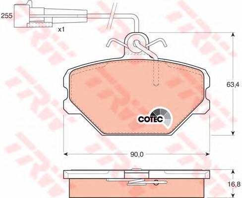 Тормозные колодки Тормозные колодки дисковые ABE арт. GDB833