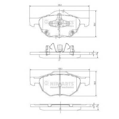 Тормозная система Гальмiвнi колодки, к-кт. ABE арт. J3604064