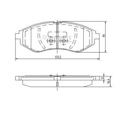 Тормозная система Гальмiвнi колодки, к-кт. ABE арт. J3600911