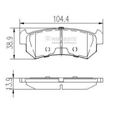 Тормозная система Гальмiвнi колодки, к-кт. PAGID арт. J3610903