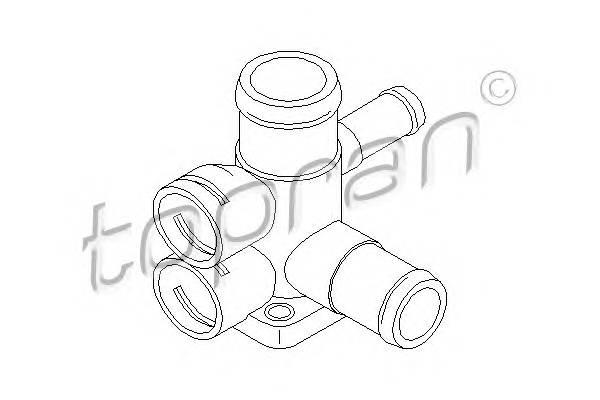 ФЛАНЕЦ СИСТ. ОХЛ. (ДЛЯ ДАТЧИКОВ) VW GOLF/PASSAT 88- 1,8 (PB/PF) TOPRAN 100719