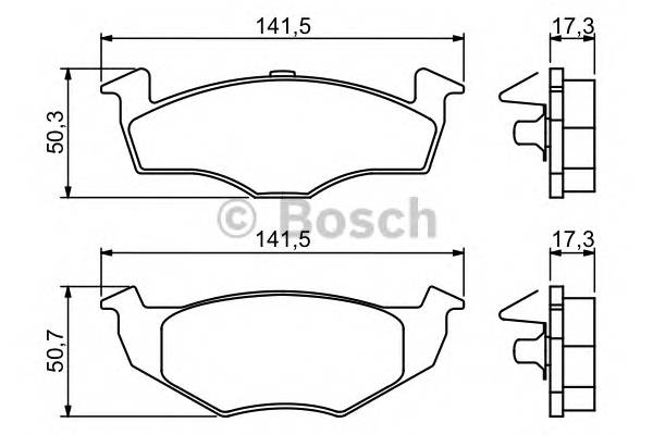 Тормозные колодки Тормозные колодки Bosch PAGID арт. 0986494005