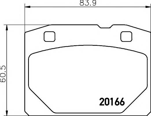 Тормозные колодки Тормозные колодки передние LADA 2101-07 TEXTAR PAGID арт. 2016603