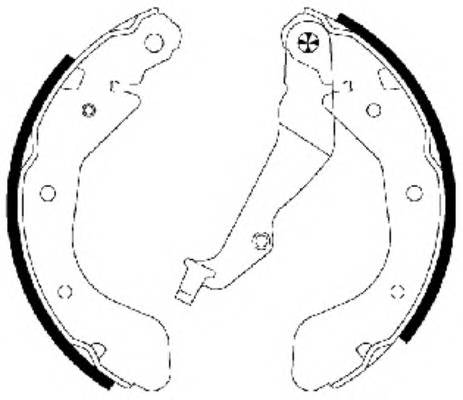Тормозные колодки Тормозные колодки барабанные Aveo TEXTAR PAGID арт. 91062500