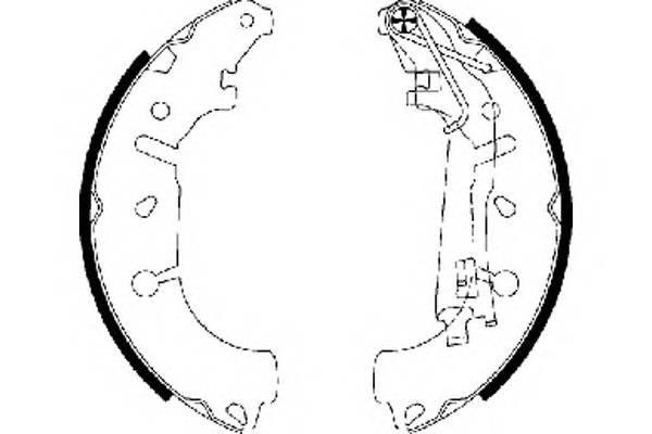 Тормозные колодки Тормозные колодки барабанные ABE арт. 91065400