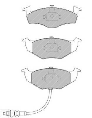 Тормозные колодки Тормозные колодки Ferodo PAGID арт. FSL1634