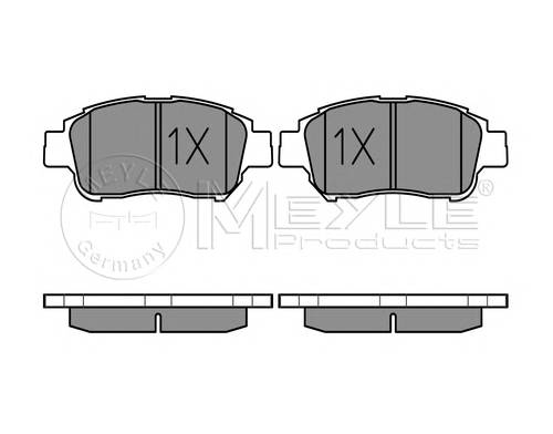 Тормозные колодки Тормозные колодки дисковые MEYLE арт. 0252334816W