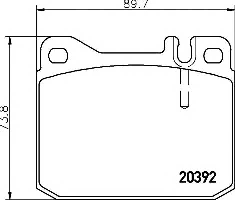 Тормозные колодки 20392/18,5мм Тормозные колодки PAGID PAGID арт. T4141