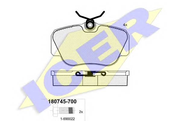 Тормозные колодки Тормозные колодки дисковые PAGID арт. 180745700