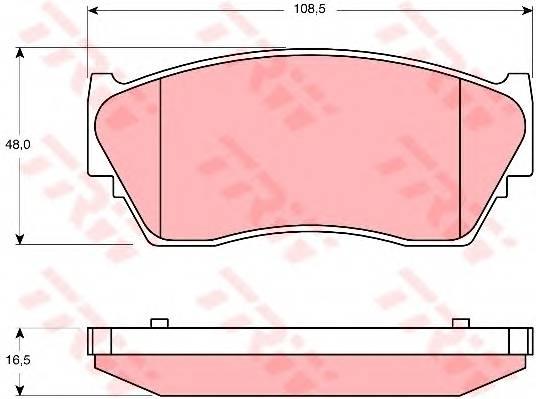 Тормозные колодки Тормозные колодки дисковые PAGID арт. GDB1170