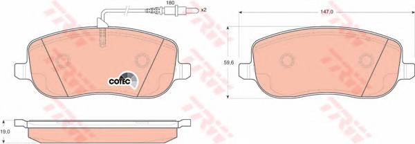 Тормозные колодки Тормозные колодки дисковые ABE арт. GDB1503