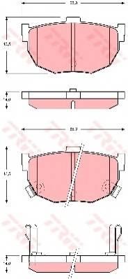 Тормозные колодки Тормозные колодки дисковые PAGID арт. GDB3368