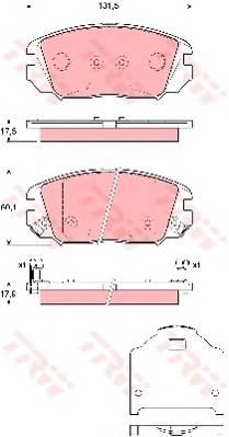 Тормозные колодки Тормозные колодки дисковые ABE арт. GDB3409
