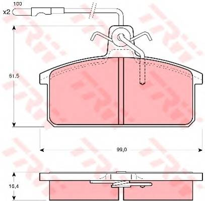Тормозные колодки Тормозные колодки дисковые PAGID арт. GDB422