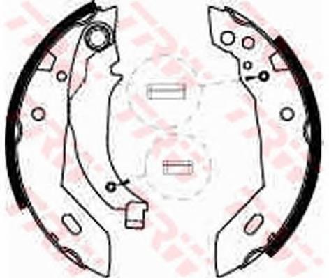 Тормозные колодки Тормозные колодки барабанные ABE арт. GS6228
