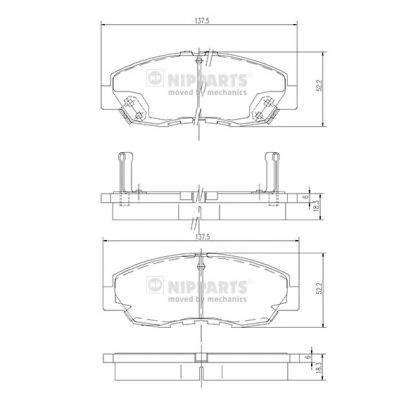 Тормозная система Гальмiвнi колодки, к-кт. PAGID арт. J3604030