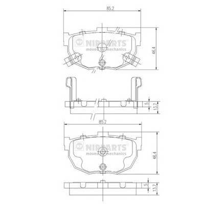 Тормозная система Гальмiвнi колодки, к-кт. PAGID арт. J3610505