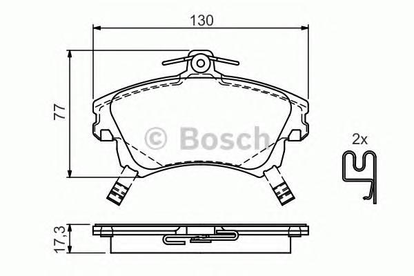Тормозные колодки Тормозные колодки Bosch ABE арт. 0986424541
