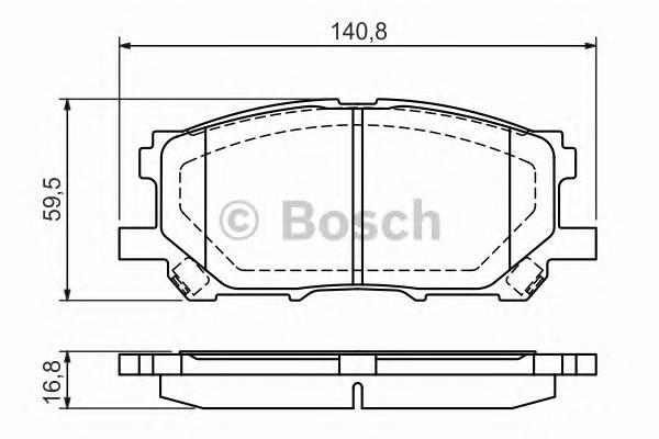 Тормозные колодки Тормозные колодки Bosch PAGID арт. 0986494218