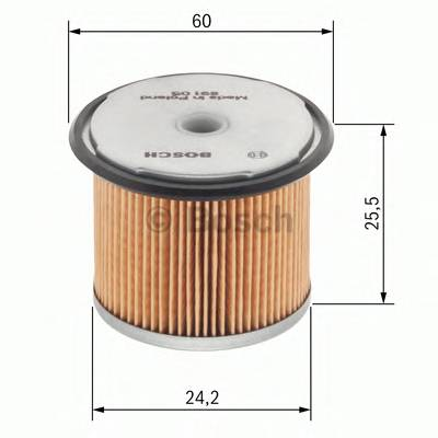 Топливные фильтры Топливный фильтр диз BOSCH арт. 1457431352