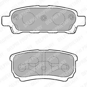 Гальмівні колодки, дискові PAGID арт. LP1852