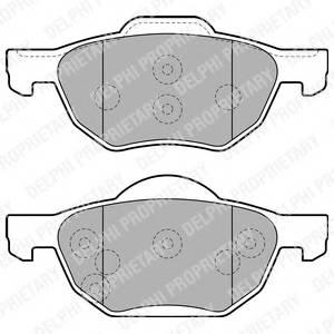 Гальмівні колодки, дискові ABE арт. LP1862