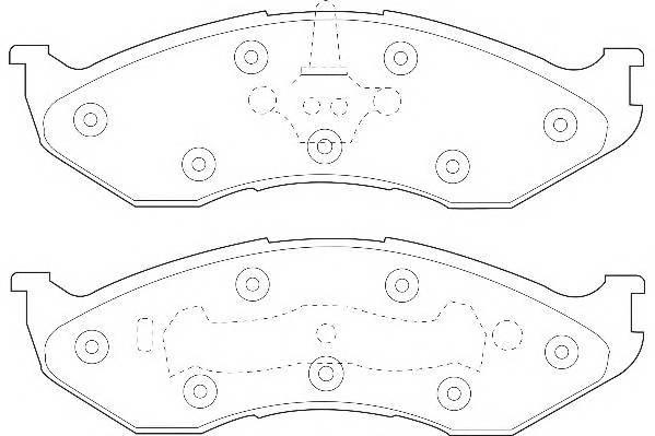 Тормозные колодки Тормозные колодки Wagner PAGID арт. WBP21822A