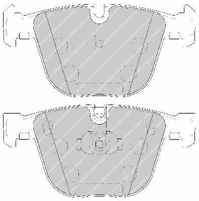 Тормозные колодки Тормозные колодки Ferodo PAGID арт. FDB1672
