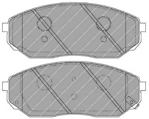 Тормозные колодки Тормозные колодки Ferodo PAGID арт. FSL1735