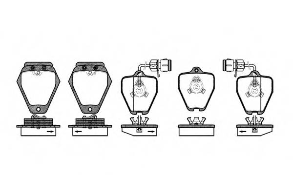 Тормозная система Гальмiвнi колодки, к-кт. PAGID арт. 250802