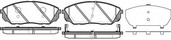 Тормозная система Гальмiвнi колодки, к-кт. PAGID арт. 2104112