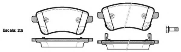 Тормозная система Гальмiвнi колодки, к-кт. ABE арт. 2143502